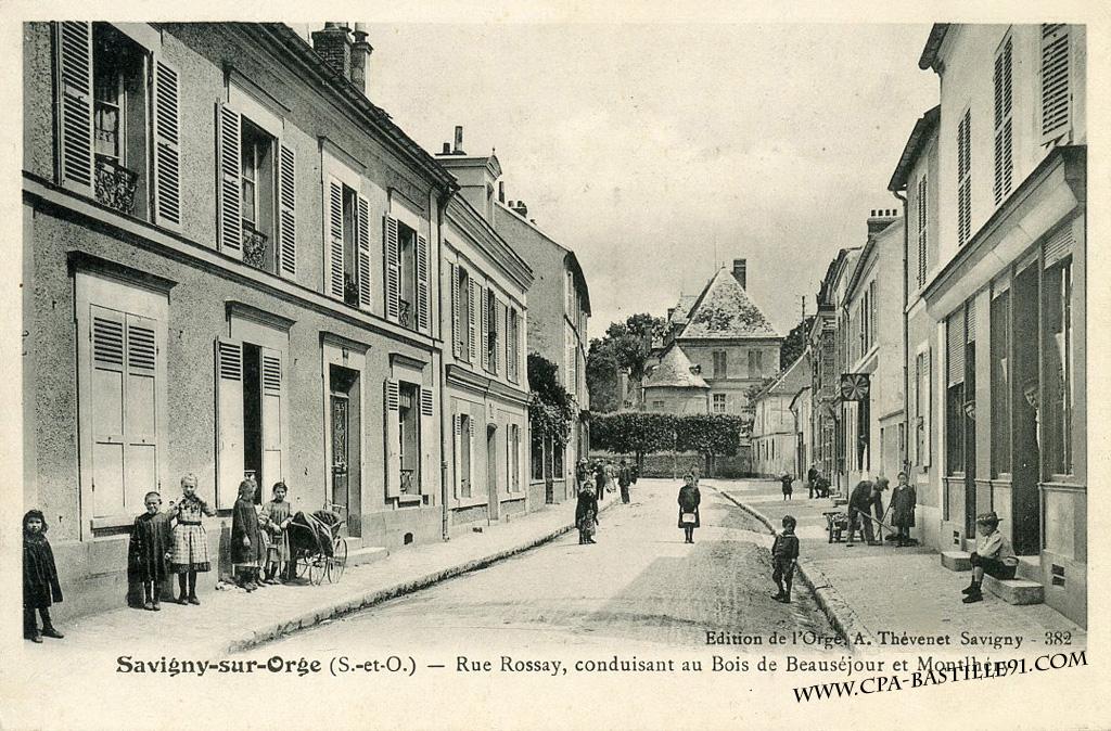 D'hier à Aujourd'hui – Savigny sur Orge – Rue des Rossays