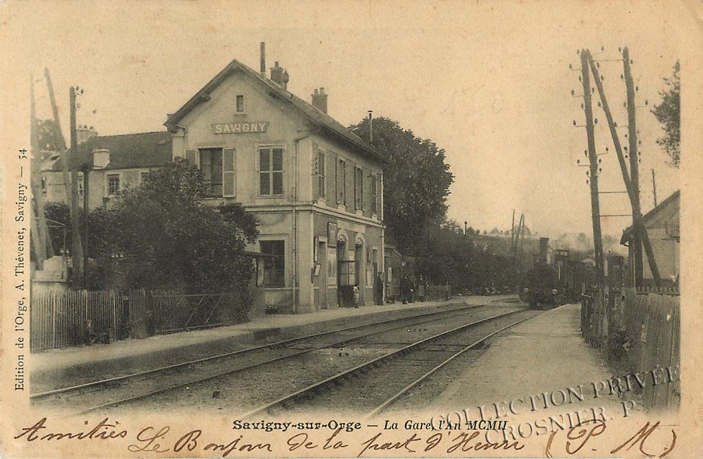 La petite gare de Savigny sur Orge en 1902
