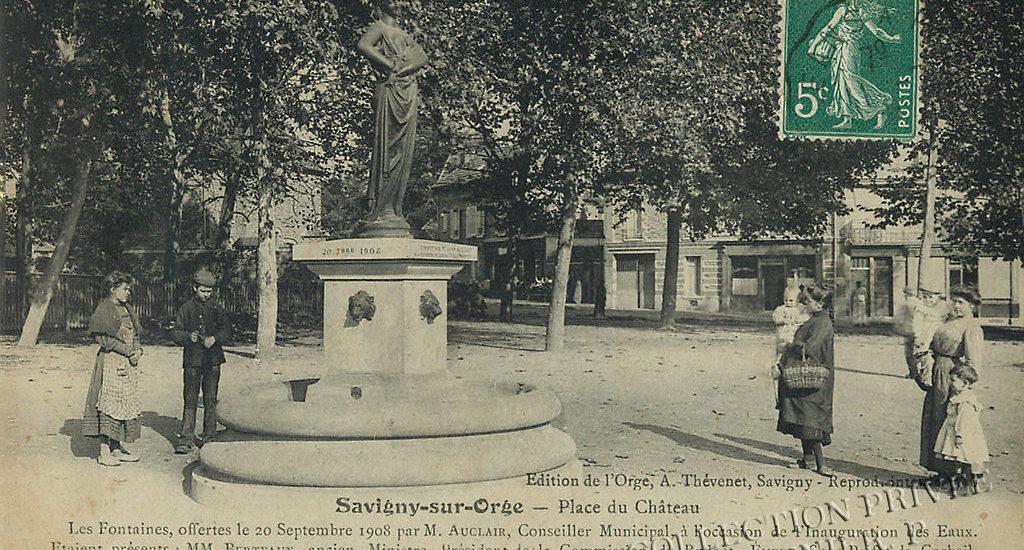 Savigny-sur-Orge – Place du Château – Les fontaines